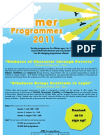 JEMS Summer Programmes 2011