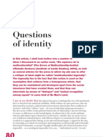 Questions of Indentity