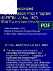 "Session 1- ""The Nonmotorized Transportation Pilot Program"" by Gabe Rousseau"