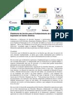 Plataforma de Acción para el Fortalecimiento de la Libertad de Expresión en Centro América