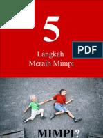 5 langkah meraih mimpi