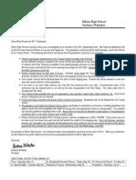 2011 parent graduation packet