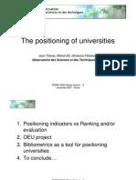 Positioning Universities