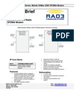 Mobile WiMax SDR OFDMA Modem