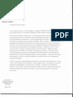 Phil Bantin Letter