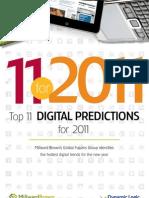 Digital Predictions for 2011 Mill Ward Brown