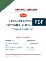 Customer Satisfaction Towards Bingo