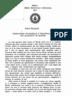Karpati J., Cromatismo polimodale e politonalità nei quartetti di Bartok