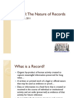 6615 WeekI Nature of Records