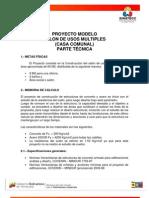 Formato Proyectos Fides Proyecto Modelo Casa Comunal