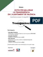 Debate13 mayo Transparencia en el Ayuntamiento de Valencia, intervención de GO!