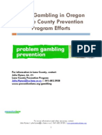 Youth Gambling in Oregon & Lane County Prevention Program Efforts