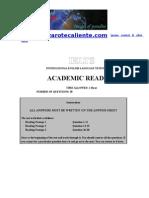 English - IELTS - Reading - Exam Sample Docx