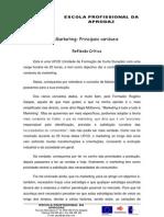 reflexão marketing principais variáveis