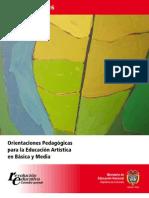 Orientaciones Pedagogic As Para La Educacion Artistica en Basica y Media