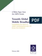 UMTS Forum Towards Global Mobile Broadband LTE White Paper