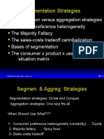 Segmentation Strategies - Consumer behavior
