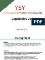 Ordysy Capabilities Deck