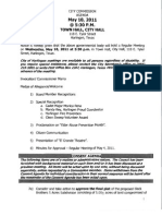 May 18 City Commission Meeting