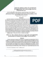 Efecto de la fuente de carbono sobre el crecimiento y producción de pigmentos de la microalga marina Chroomonas