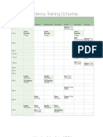 Wardance Training Schedule 2 PDF