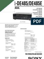 Sony STR-DE485 service manual