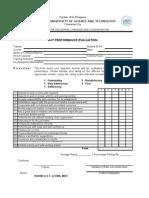 OJT Performance Evaluation