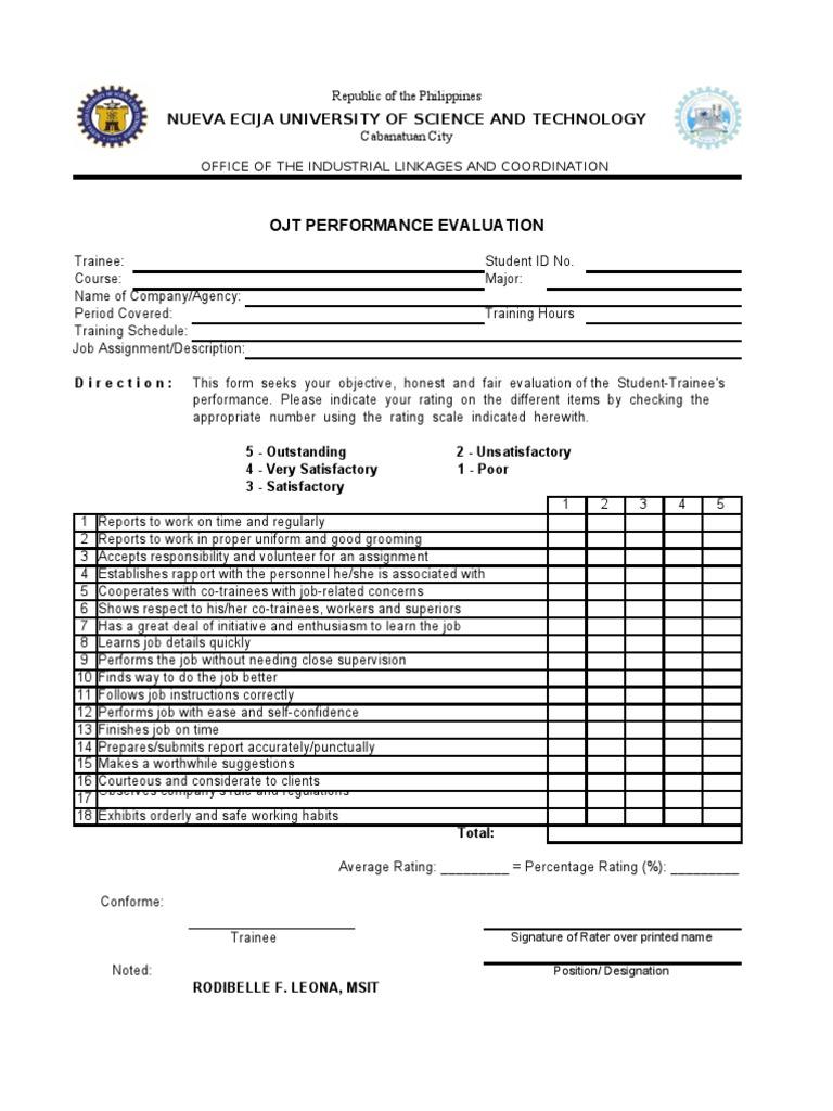 sle acceptance letter for ojt student internship