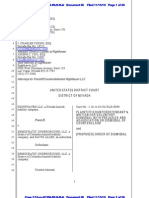 Motion to Dismiss Case Against The Democratic Underground - Righthaven