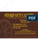Stomp OUT Cancer Invite Card