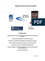 Seminario Six Sigma Documento Divulgacion PXS 2010