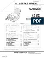 Sharp UX-500, 510, FO-1460 Service Manual