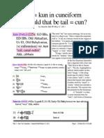 """""""Tail"""" = """"kun"""" in Cuneiform"""