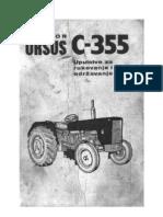 URSUS C 355 PRIRUČNIK