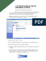 Manual de Instalación de SAP en Maquinas Clientes