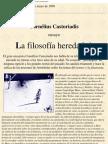 Castoriadis Cornelius - La Filosofia Heredada [PDF]