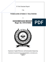 Seminar on Wireless Energy Transfer