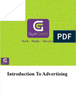Introduction of Advertising