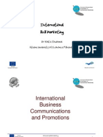 International Business Communications and Promotions