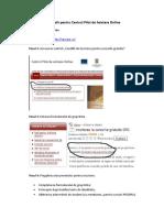 Informatii Pentru Centrul Pilot de Asistare Online