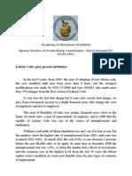 Labour Code Articole May 2011