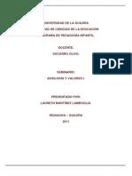 PROYECTO de VIDA Axiologia y Valores.