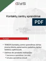 TENESYS Klientu Aptarnavimo Telefonu Sprendimas_2011