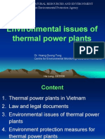 Environmental Issues of Thermal Power Plants in Vietnam