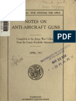 GroBartig Notes On Anti Aircraft Guns In WWI 1917