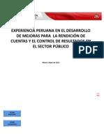 EXPERIENCIA PERUANA EN EL DESARROLLO DE MEJORAS PARA LA RENDICIÓN DE CUENTAS Y EL CONTROL DE RESULTADOS EN EL SECTOR PÚBLICO