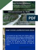 IRRIGACIONES EN EL PERÚ