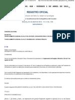 RO S 20110401 Reglamento General a la Ley del Deporte y Reglamento a la Ley Servicio Público