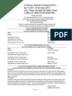 Sample Ballot for Dallas County