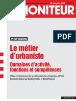 Le métier d'urbaniste - OPQU